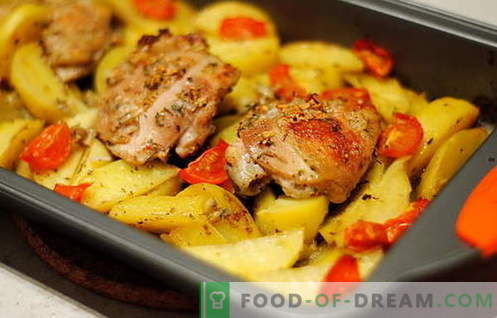 Pollo Al Forno Con Patate Le Migliori Ricette Come Cucinare Correttamente E Gustoso Pollo Al Forno Con Patate