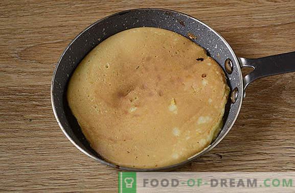 Pannenkoeken met maïsmeel: een weelderig, mooi dessert op kefir. Hoe maiskoekepan's bereiden: stap voor stap fotorecept