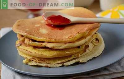 Pancakes con farina di mais: un bel dessert lussureggiante su kefir. Come cucinare le frittelle di mais: passo dopo passo la foto-ricetta