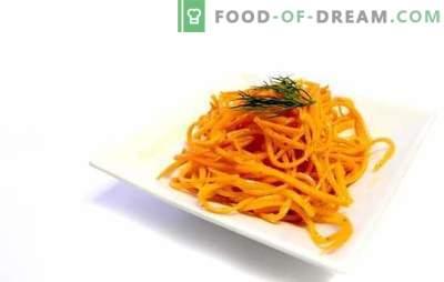 Carote reali coreane a casa - snack salato. Ricette autentiche carote coreane con additivi