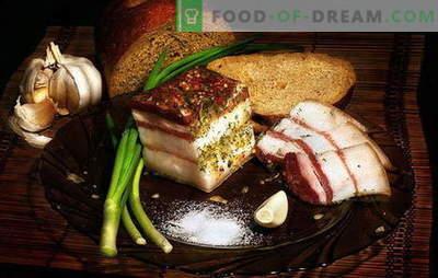 Lardo marinato - naturalmente! Come sottaceto lardo a casa con aceto, zucchero, aglio, in coreano