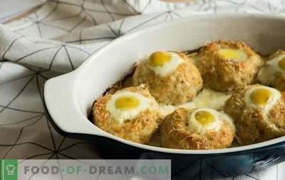 Nidi di carne macinata con uovo al forno - un'alternativa alle polpette. Ricette i nidi di carne macinata con l'uovo in forno con vari ripieni