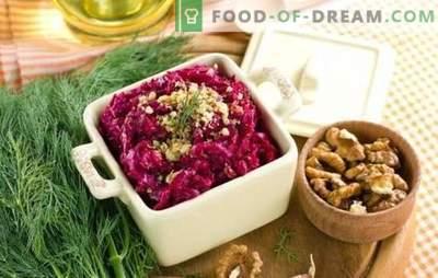Trattamento utile - insalata di barbabietole con aglio. Ricette classiche e nuove per insalata di barbabietole con aglio