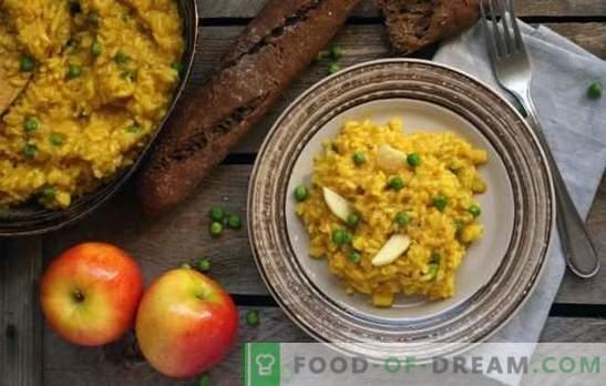 Risotto quaresimale - pilaf italiano senza carne! Ricette per risotto magro con funghi, verdure, avocado, pere, zucca
