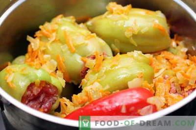 Peperoni ripieni: le migliori ricette. Come cucinare correttamente e cucinare i peperoni ripieni.