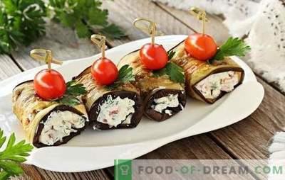 Piatti di melanzane con aglio e maionese - con gusto. Tortine di verdure, involtini: piatti leggeri di melanzane con aglio e maionese
