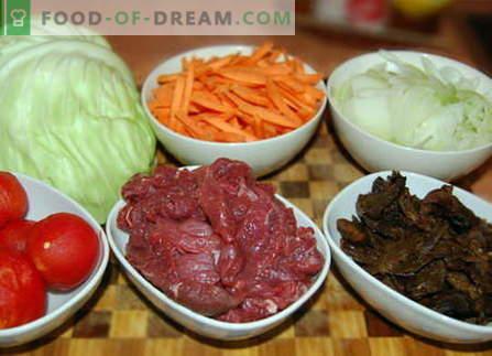 Cavolo con carne - le migliori ricette. Come cucinare correttamente e gustoso cavolo con carne.
