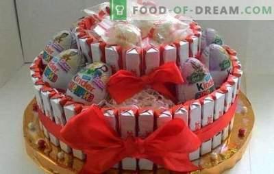 Torte fai da te fai-da-te - facile! Fare dolci regalo da Kinders con le proprie mani per ogni vacanza ed età