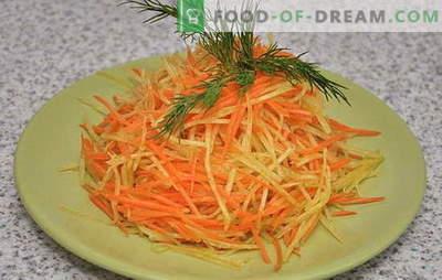 Ravanello leggero rinfrescante e insalata di carote. Le migliori opzioni per una dieta di insalata di ravanello e carota con diversi condimenti