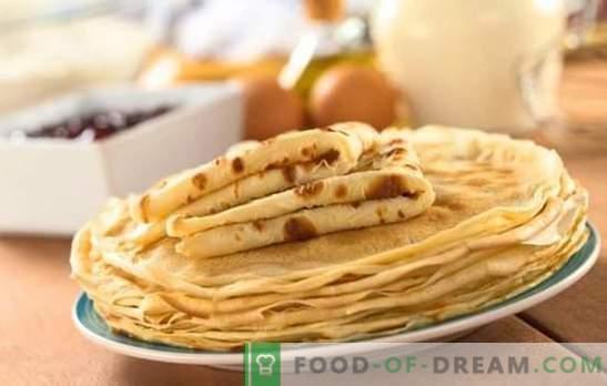 La ricetta del pancake è veloce e gustosa: la migliore in fretta. Una selezione delle migliori ricette di pancake in modo rapido e gustoso su latte, acqua, kefir
