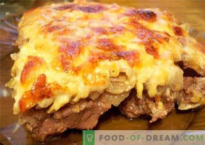 Carne con formaggio - le migliori ricette. Come cucinare correttamente e cucinare con il formaggio.