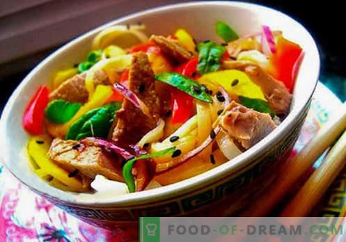 Insalata thailandese - cinque migliori ricette. Come preparare correttamente e gustosa insalata thailandese.