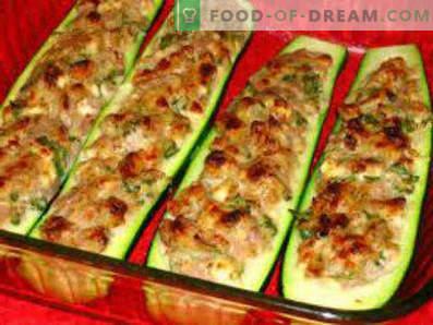 Zucchine ripiene di carne cotta nel forno, ricette di cucina
