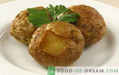 Come cuocere le patate al forno - le migliori ricette con una crosta, formaggio, pancetta, aglio. Quante patate cuociono nel forno?