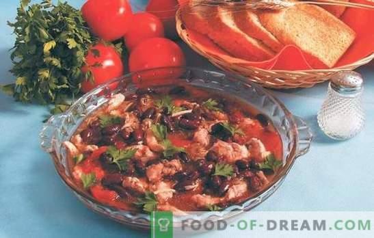 Che gusto fare i fagioli con i pomodori: rosso, bianco, verde, in scatola. Ricette per contorni e fagioli con pomodori