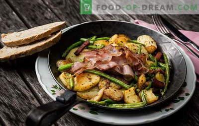 Patate con carne in padella - una tradizione! Le migliori ricette di patate fritte con carne in padella: con carne macinata, panna acida, verdure