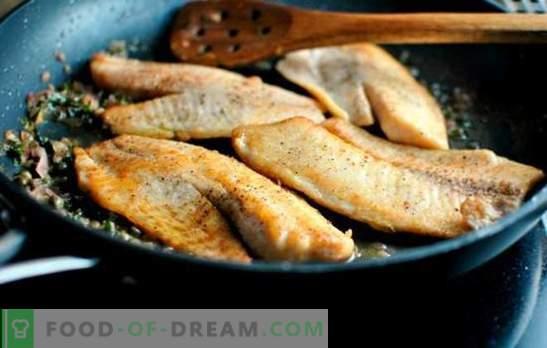 Tilapia in padella: succosa, tenera e di buon gusto. Semplici ricette fritte con crosta croccante e stufato di tilapia in padella
