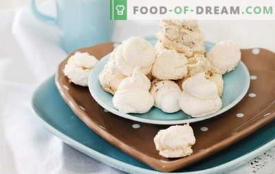 Meringa a casa - baci d'aria. Come cucinare la vaniglia, cioccolato, noci, meringa a casa