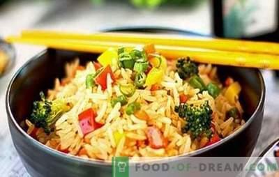 Riso con verdure in una pentola a cottura lenta - mangiato via per entrambe le guance! Ricette per diversi piatti di riso con verdure in una pentola a cottura lenta