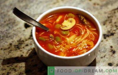Zuppe di riempimento: aerobatics di gusto con facilità di preparazione. Ricette che riempiono le zuppe con diversi cereali e verdure