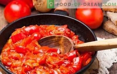 Spuntino ungherese - una tripudio di gusto, la magia del colore! Ricette antipasti ungheresi luminosi di pepe, pomodori, uova, fiocchi di latte, zucchine