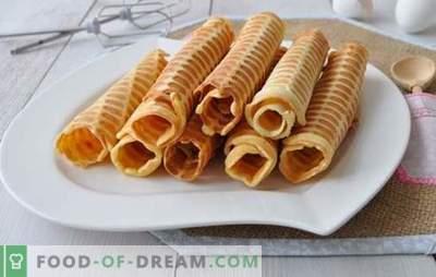 Le cialde croccanti in una piastra per cialde vengono preparate una o due volte! Ricette per waffle croccanti in una piastra per cialde su burro, latte, con amido