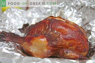 Pollo al cartoccio - le migliori ricette. Come cucinare correttamente e gustoso pollo in carta stagnola.