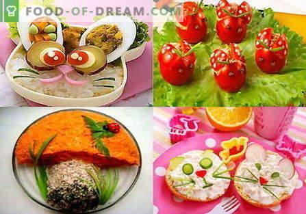 Insalate per bambini - le migliori ricette. Come correttamente e gustoso per preparare un'insalata per bambini.