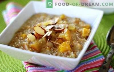 Farina d'avena con mele - spuntino dietetico! Cottura di porridge con mele, miele o banana, latte e acqua