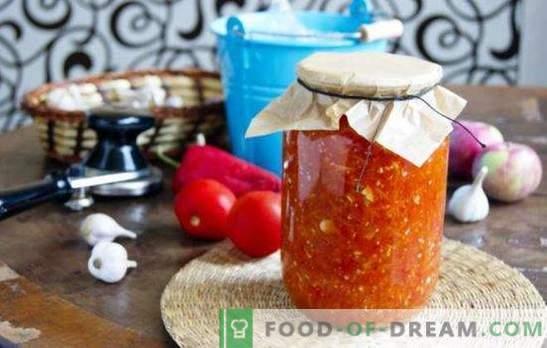 L'Adjika di pomodori, mele e aglio non ha concorrenti. La stagionatura più economica - adjika da pomodori con mele