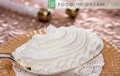 Ricette passo passo di una crema delicata e proteica. Cucinando crema proteica cremosa come dessert o per cottura (passo dopo passo)