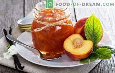 Nektarine - aromatični poletni okus. Recepti za izdelavo džema iz nektarine: tradicionalni, s kavo, vanilijo, cimetom