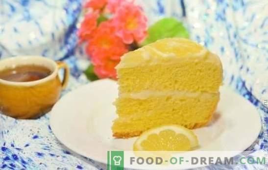 Torta al limone: biscotti, bignè, soufflé, sabbia, gelatina, meringa, torta gelato. Copyright ricette limone e glassa