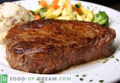Бифтек - най-добрите рецепти. Как да правилно и вкусно готви пържола говеждо месо, нарязан и мляно.