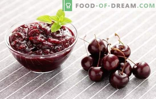 La marmellata di ciliegie è una preparazione tenera per l'inverno. Ricette di marmellata di ciliegie: con limone, ribes, fragola, petali di rosa