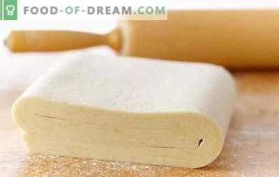 Pasta sfoglia istantanea: ricette veloci! Varianti di pasta sfoglia veloce su acqua, kefir, borjomi e birra