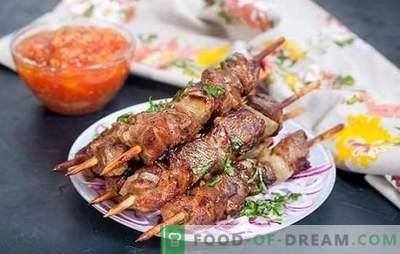 Shashlik di maiale al forno: nella manica, in un barattolo, sugli spiedini. La versione più semplice del kebab di maiale nel forno