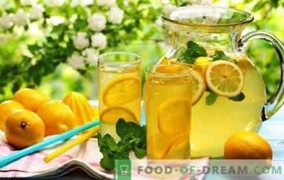 Lemonade fatta in casa al limone: zenzero classico, per dimagrire. Come fare la limonata a casa?