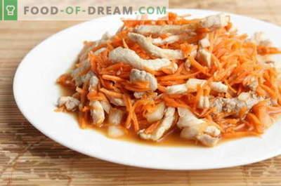 Insalata di pollo coreana - le migliori ricette. Come correttamente e gustoso per preparare un'insalata con pollo e carota coreana.