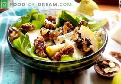 Insalate con pera - cinque migliori ricette. Come preparare correttamente e gustose insalate con pera.
