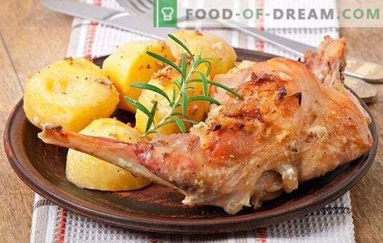 Piatti dal coniglio: la ricetta veloce è una prelibatezza accessibile. Piatti dal coniglio - ricette veloci per carne saporita e tenera