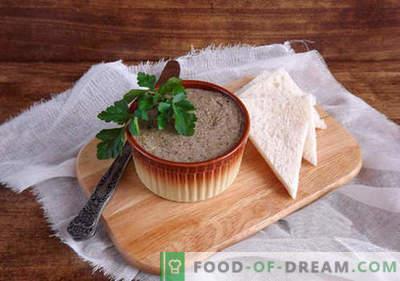 Patè per l'inverno - le migliori ricette. Come preparare correttamente e deliziosamente i patè per l'inverno.