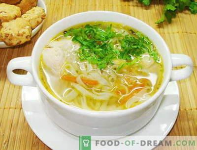 Zuppa di spaghetti di pollo - le migliori ricette. Come cucinare correttamente e cucinare zuppe di pollo.