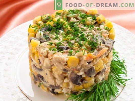 Insalata con mais e pollo - le migliori ricette. Come cucinare correttamente e gustosa insalata con mais e pollo.