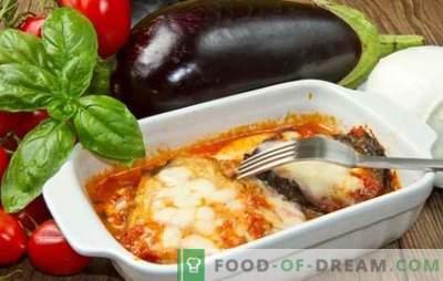 Lasagna con melanzane - oh, mamma mia! Ricette lasagne italiane con melanzane e carne macinata, pomodori, funghi, zucchine
