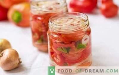 Insalata di pomodori dolci per l'inverno: le migliori ricette per lo spuntino originale. Segreti di una gustosa insalata di pomodori dolci per l'inverno
