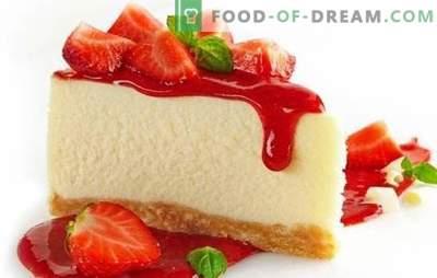 Decorazioni per la tavola - cheesecake colorato con fragole. Dessert cheesecake alle fragole: cucina calda e fredda