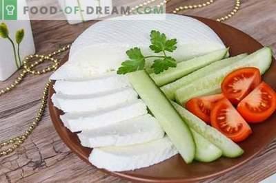 Sūris arba feta sūris namuose. Kaip padaryti, kad naminis sūris būtų skanus ir nebrangus.