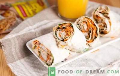 Lavash roll (ricetta passo-passo) - tutto è geniale! Ricette passo-passo di pita dal rotolo con diversi ripieni