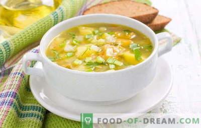 Cucinare la zuppa di piselli senza carne: mangiare senza calorie extra. Minestre di funghi, cavoli e cremose senza carne